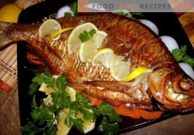 Bream baked in the oven