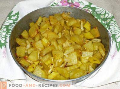 Potatis med lök i ugnen