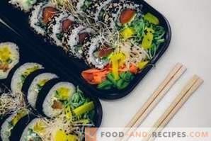 Која е разликата помеѓу суши и ролни?