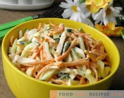 Salade de poulet fumé aux carottes coréennes