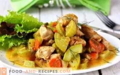 pollo in umido con zucchine