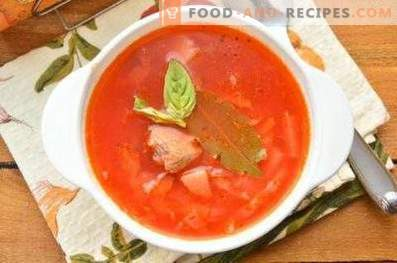 Borscht on beef broth