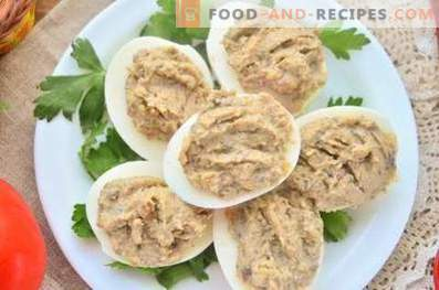 Eggs Stuffed with Mushrooms