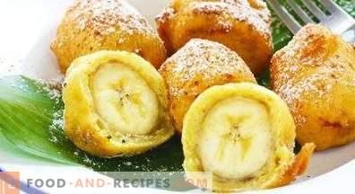 Banane v testu