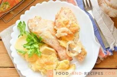 Kako kuhati piščanca s krompirjem v pečici